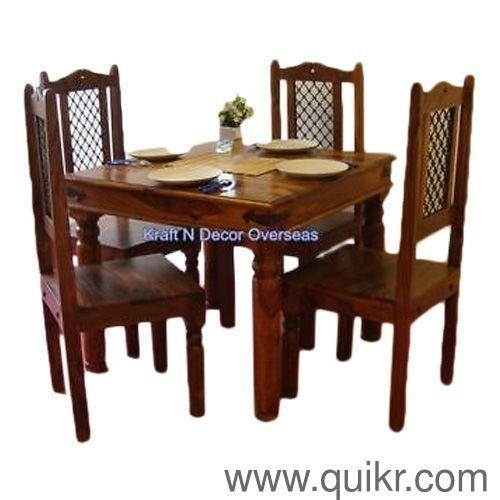 Ethnic Dining Table With 4 Chairskraft N Decor, Material For Sheesham Dining Tables And 4 Chairs (View 20 of 25)
