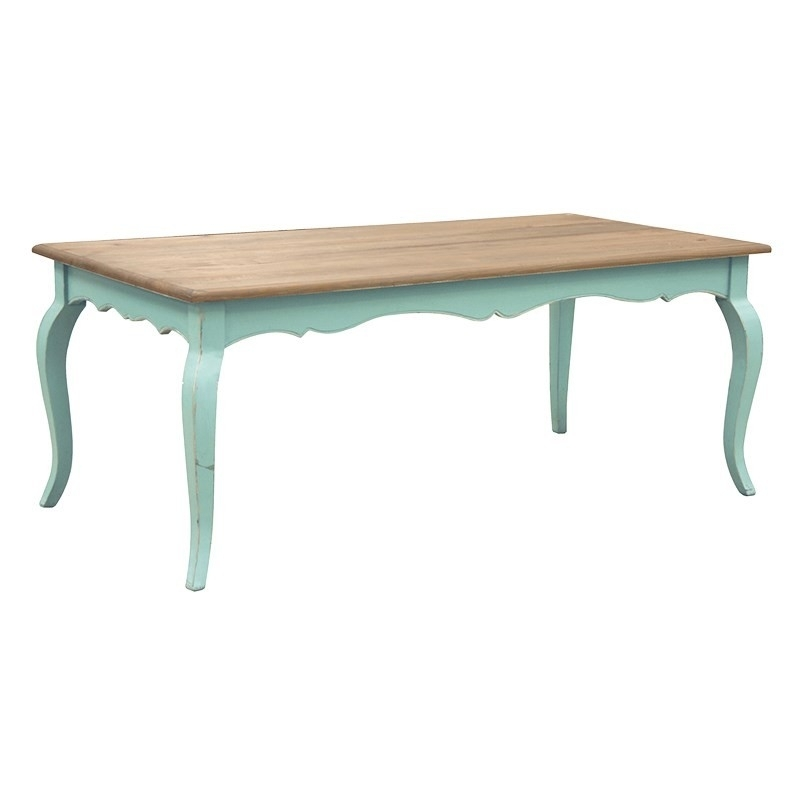 Etienne Turquoise French Dining Table | French Dining Furniture Intended For French Chic Dining Tables (Image 8 of 25)