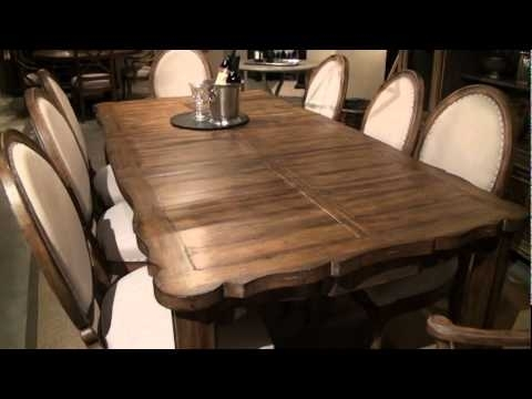 European Farmhouse – Farmer's Market Rectangular Leg Dining Table In Market Dining Tables (Image 14 of 25)