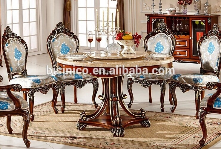 European Style Luxury Dining Set,round Dining Table And Chairs,royal Inside Royal Dining Tables (Photo 9 of 25)