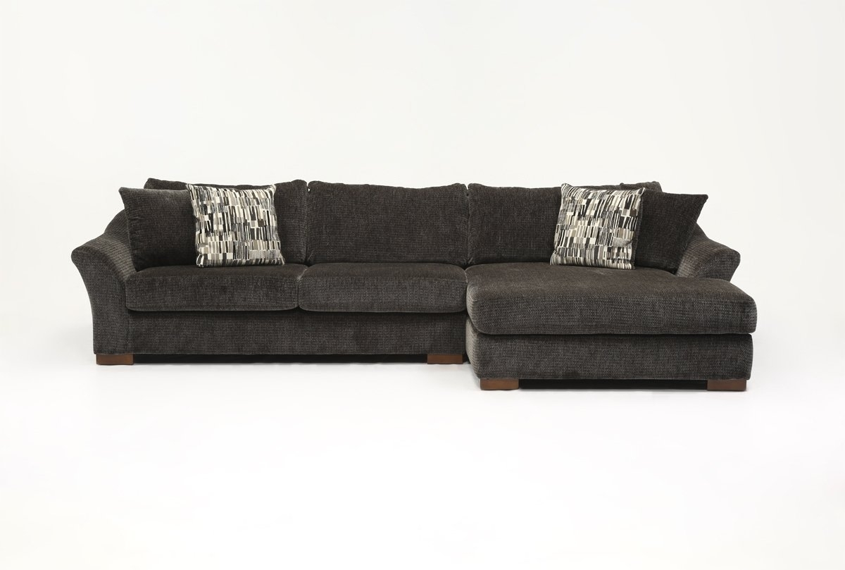 Evan 2 Piece Sectional W/raf Chaise | Living Spaces Intended For Evan 2 Piece Sectionals With Raf Chaise (Image 12 of 25)