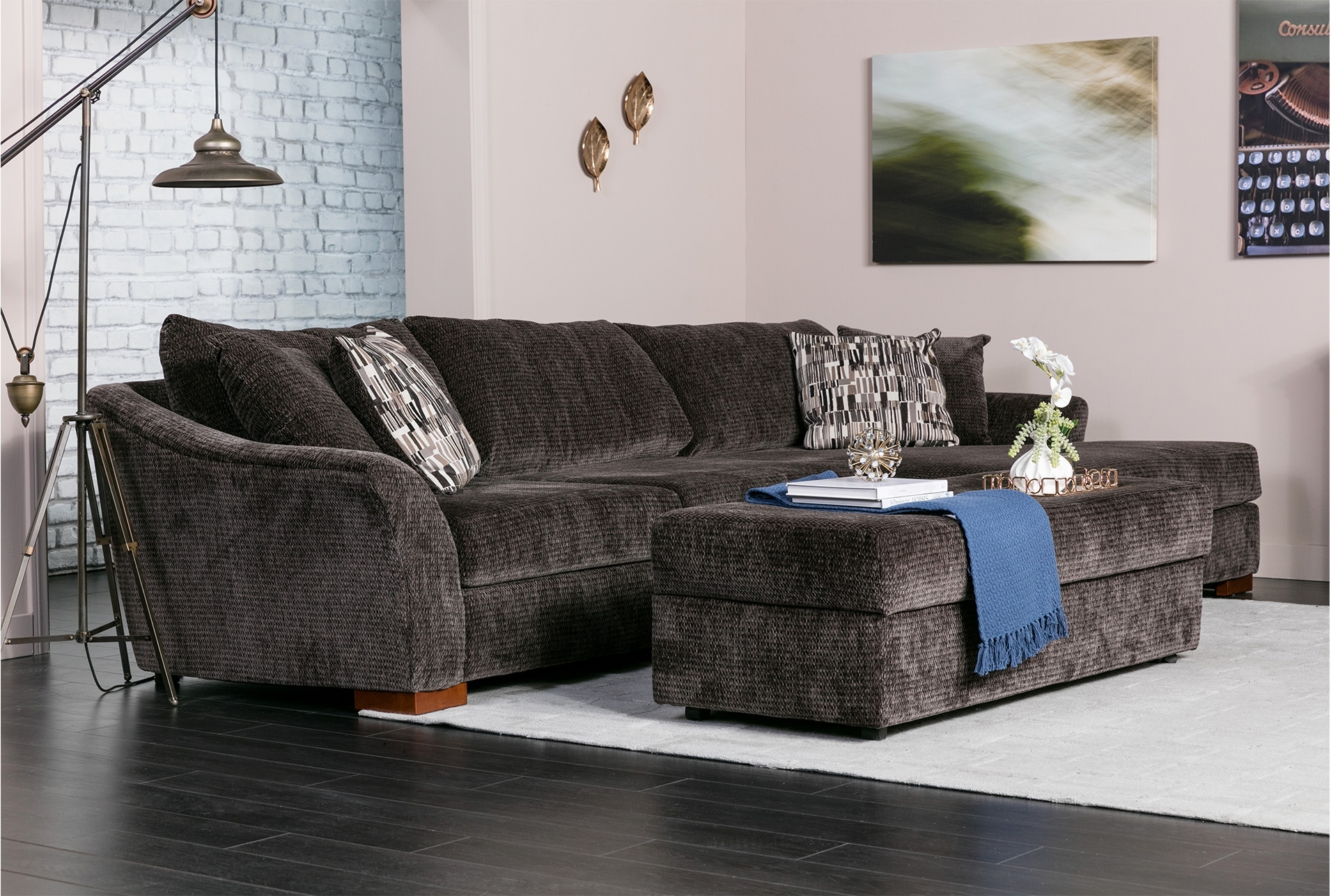 Evan 2 Piece Sectional W/raf Chaise | Ottomans And Products In Evan 2 Piece Sectionals With Raf Chaise (Image 15 of 25)