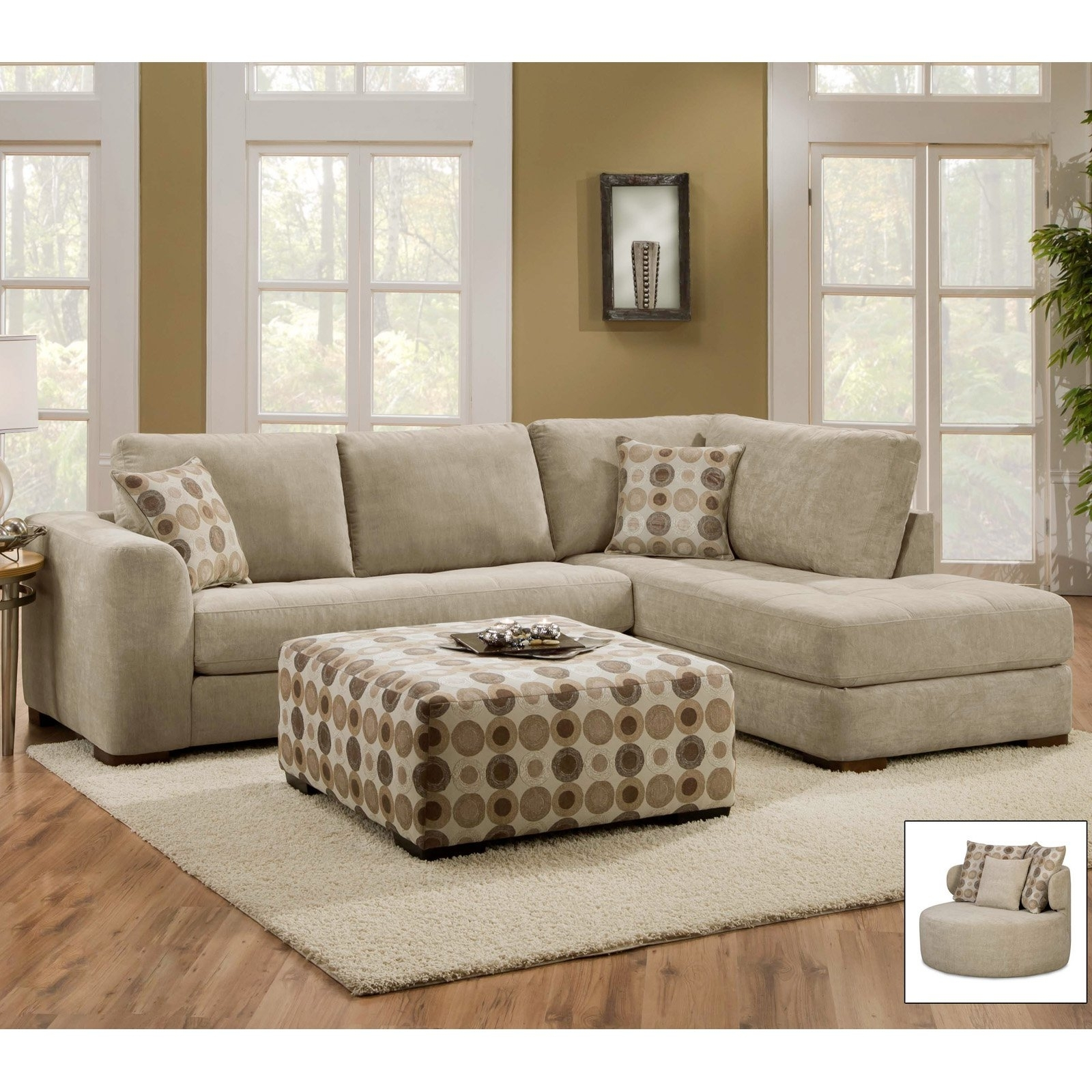 Evan Piecetional Wraf Chaise Living Spaces Unbelievable Sofa In Evan 2 Piece Sectionals With Raf Chaise (Image 18 of 25)