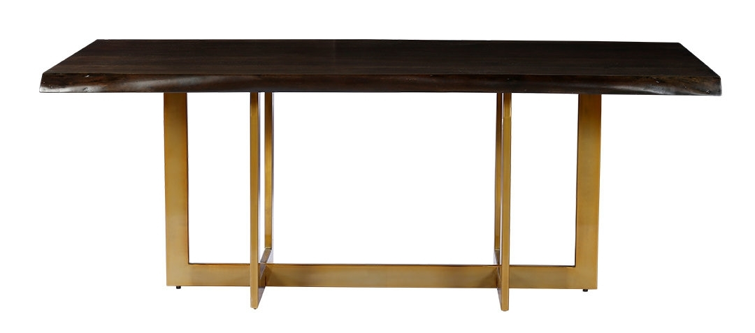 Everly Quinn Minni Acacia Wood Slab Dining Table & Reviews | Wayfair With Regard To Amos Extension Dining Tables (Image 10 of 25)