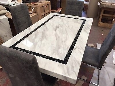 Ex Scs Alfrank Everest Marble Dining Table & 4 Chairs – £ (View 23 of 25)