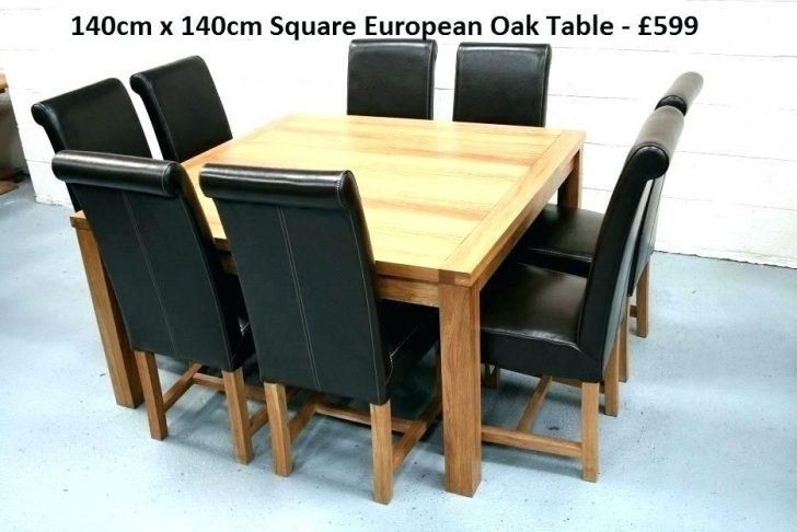 Excellent Square Oak Table Extending Dining And Chairs Tables Uk Regarding Square Oak Dining Tables (Image 10 of 25)