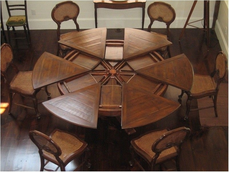 Excellently Large Round Dining Table Seats 8 Silo Christmas Tree Regarding Huge Round Dining Tables (Image 7 of 25)
