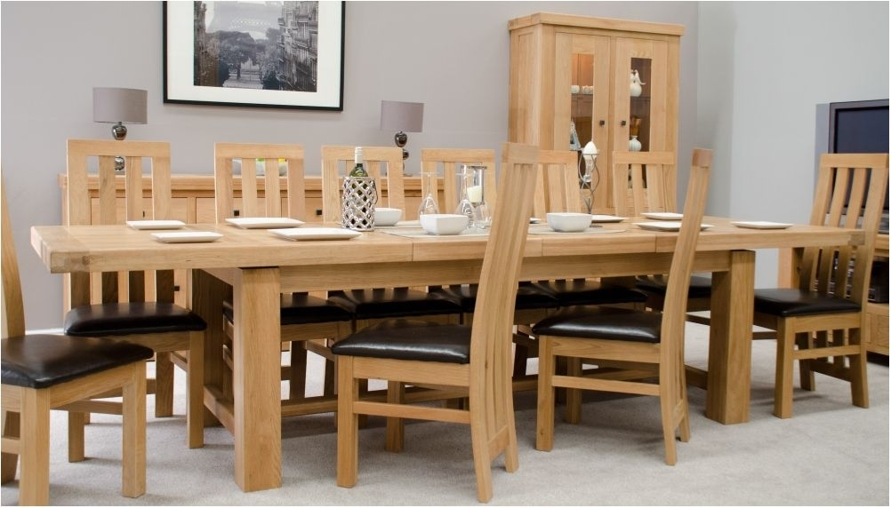 Excellently Oxford Solid Oak Extending Dining Table Oak Furniture Throughout Chunky Solid Oak Dining Tables And 6 Chairs (Image 12 of 25)