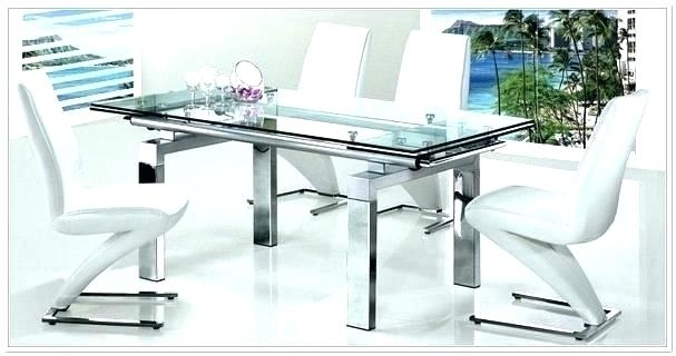 Expandable Glass Dining Table Room Tables Furniture Extendable Set Throughout Extendable Glass Dining Tables And 6 Chairs (Image 9 of 25)
