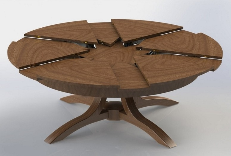 Expandable Round Dining Table – Tarato For Extendable Round Dining Tables (Image 11 of 25)