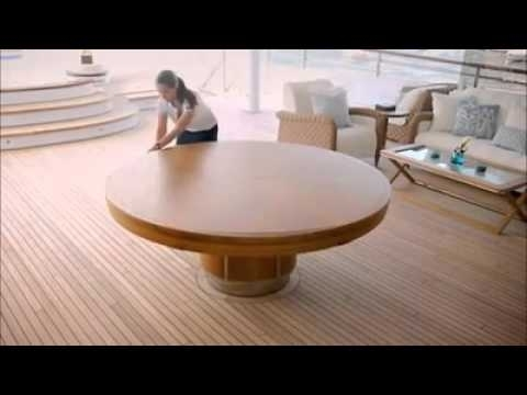 Expandable Round Dining Table - Youtube inside Extended Round Dining Tables