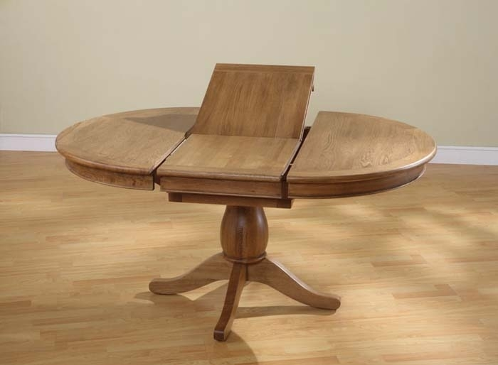 Expanding Dining Table | Dining Room Table Sets Regarding Circular Oak Dining Tables (Image 7 of 25)