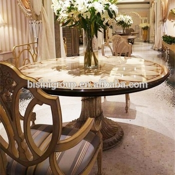 Exquisite Luxury European Imperial Handmade Round Dining Table With inside Imperial Dining Tables