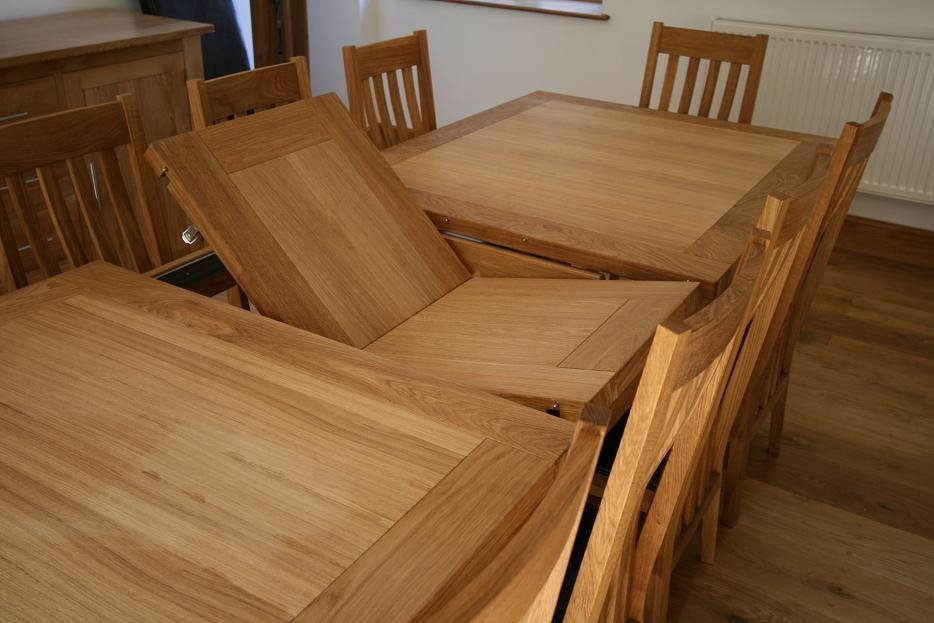 Extendable Dining Room Table, Oak Extending Dining Table Sets For Oak Extending Dining Sets (Image 7 of 25)