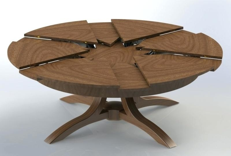 Extendable Dining Table 432 Small Round Extending Dining Table Within Small Round Extending Dining Tables (Photo 14 of 25)