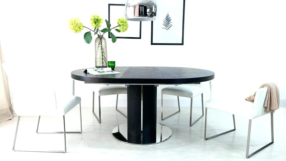 Extendable Dining Table Black Small – Easywelco Regarding Black Extendable Dining Tables Sets (Image 12 of 25)