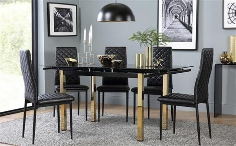 Extendable Dining Table & Chairs – Extending Dining Sets | Furniture With Black Extendable Dining Tables Sets (View 4 of 25)
