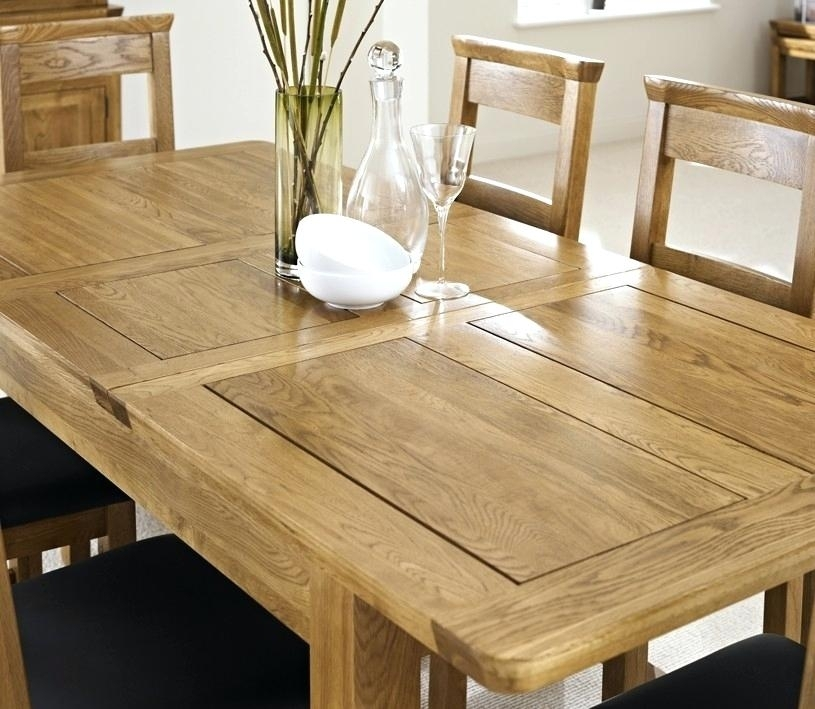 Extendable Dining Table Rustic Oak Extending Dining Table With Four In Oak Extending Dining Tables And Chairs (Photo 11 of 25)