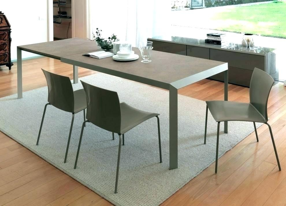 Extendable Dining Tables For Small Spaces Expandable Kitchen Tables throughout Small Square Extending Dining Tables
