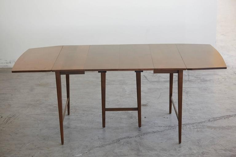 Extendable Drop Leaf Maple Dining Tablepaul Mccobb For Planner Inside Drop Leaf Extendable Dining Tables (Image 11 of 25)