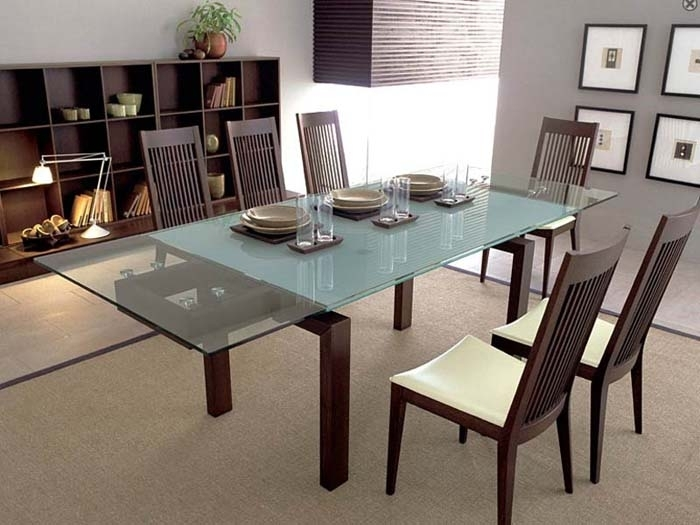 Extendable Glass Dining Room Tables | Dining Room Tables | Round inside Perth Glass Dining Tables