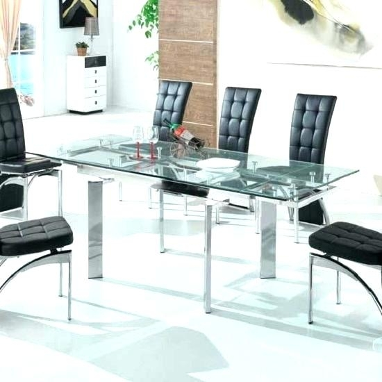 Extendable Glass Dining Table Extendable Glass Dining Table Sets intended for Glass Folding Dining Tables