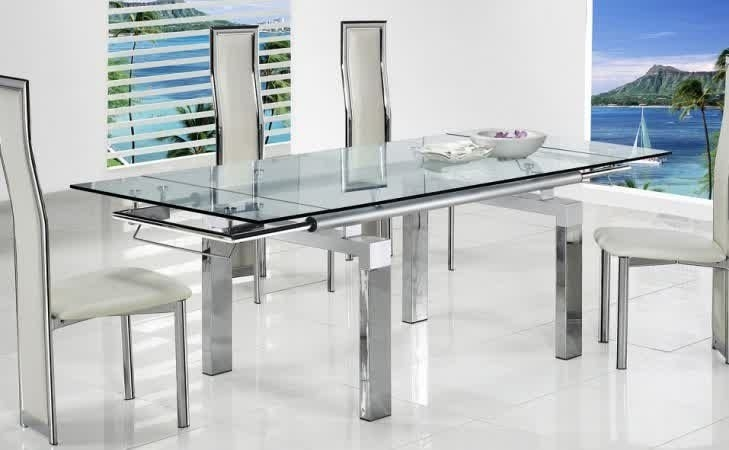 Extendable Glass Dining Table | Ideas For The House | Pinterest With Extendable Glass Dining Tables (Image 8 of 25)