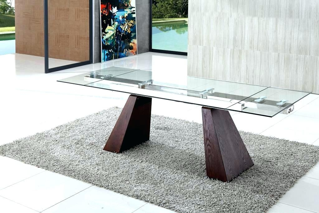 Extendable Glass Dining Table Modern Glass Dining Room Tables Pertaining To Extendable Glass Dining Tables (Image 9 of 25)