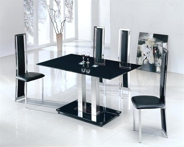 Extendable Glass Dining Table Sets – Ocane Within Extendable Glass Dining Tables And 6 Chairs (Image 11 of 25)
