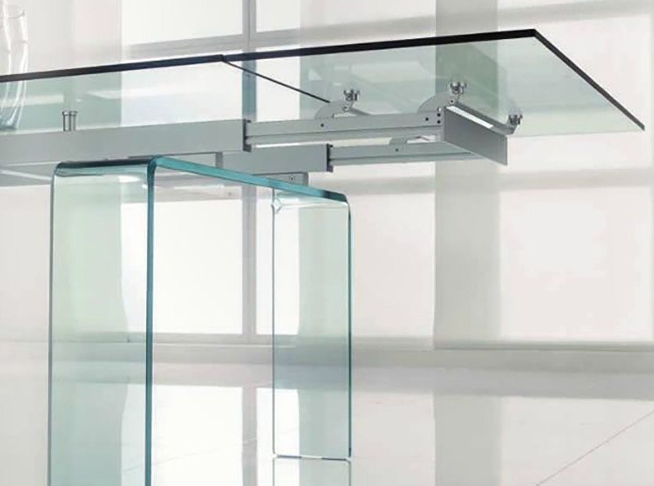 Extendable Glass Dining Table Templetonin Casa – Dining Tables In Extendable Glass Dining Tables (Image 11 of 25)