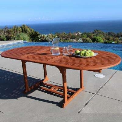 Extendable – Patio Dining Tables – Patio Tables – The Home Depot Intended For Outdoor Extendable Dining Tables (Photo 10 of 25)