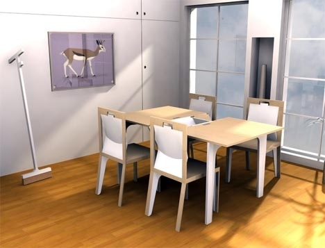 Extendable Wood Dining Room Table Set … With A Twist For Extending Dining Tables Set (Image 12 of 25)