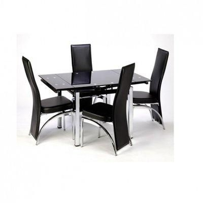 Extending Black Dining Table & 4 Chairs Price From Konga In Nigeria For Extending Black Dining Tables (Image 9 of 25)