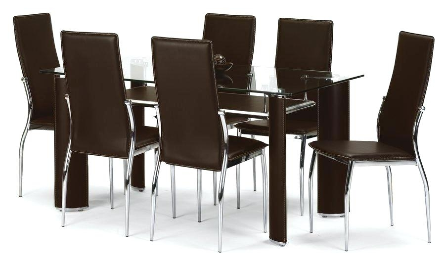Extending Black Glass Dining Table And Cha Extending Black Glass Pertaining To Black Glass Dining Tables With 6 Chairs (Image 17 of 25)