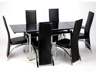 Extending Dining Table + 6 Chairs Price From Konga In Nigeria – Yaoota! Pertaining To Black Extending Dining Tables (Image 11 of 25)