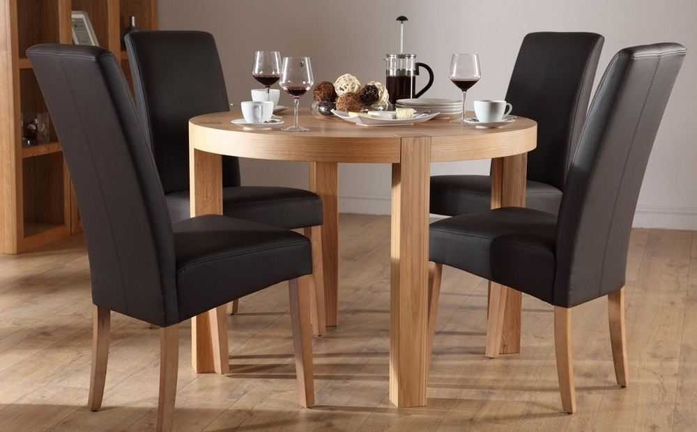 Extending Dining Table And 4 Chairs Small Kitchen Folding Within Small Round Dining Table With 4 Chairs (Photo 14 of 25)