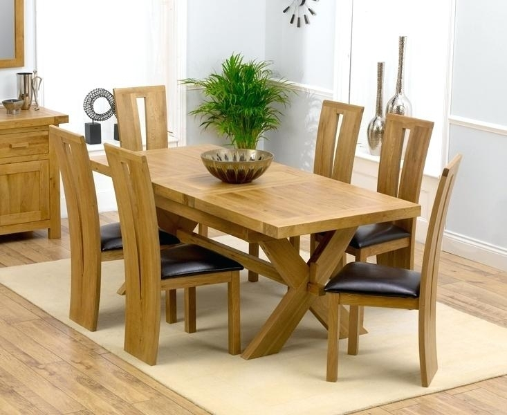 Extending Dining Table And Chairs Extending Oak Dining Table Sets With Solid Oak Dining Tables And 8 Chairs (Photo 18 of 25)