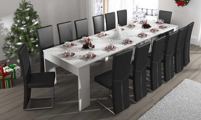 Extending Dining Table/console | Groupon Throughout Combs Extension Dining Tables (View 11 of 25)