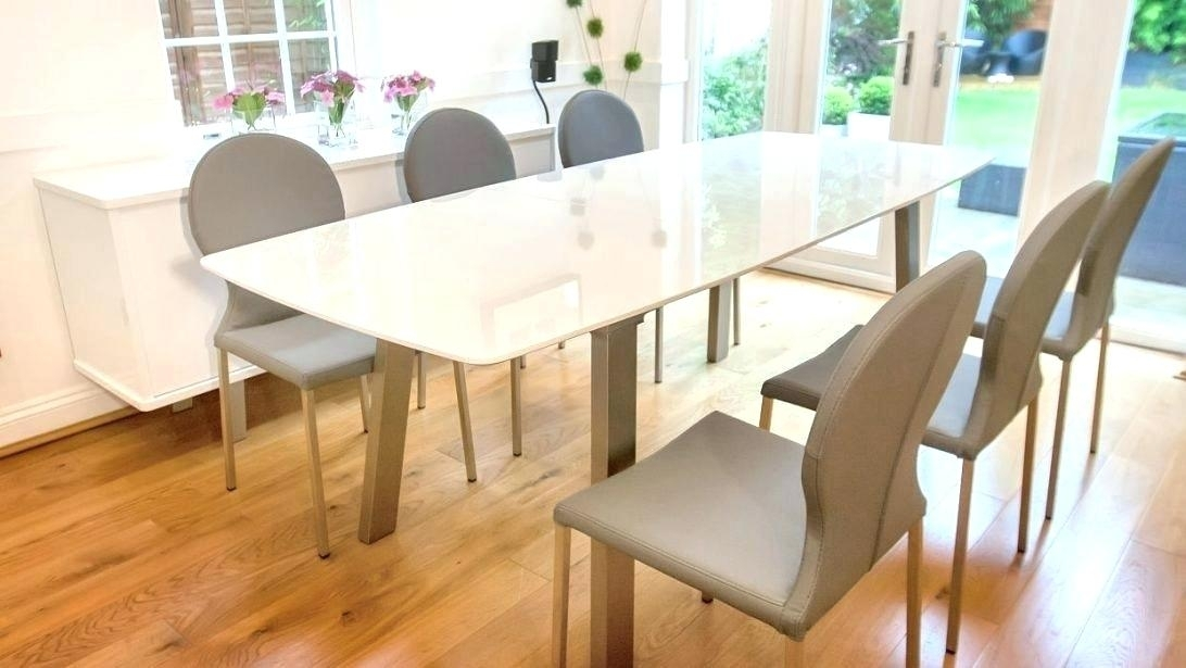 Extending Dining Table Sets Extending Dining Tables 8 Oak Dining Pertaining To Cream Gloss Dining Tables And Chairs (Image 12 of 25)
