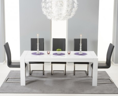 Extending Dining Table Sets Uk Awesome Buy The Venice 200Cm White In White Gloss Extending Dining Tables (Image 4 of 25)