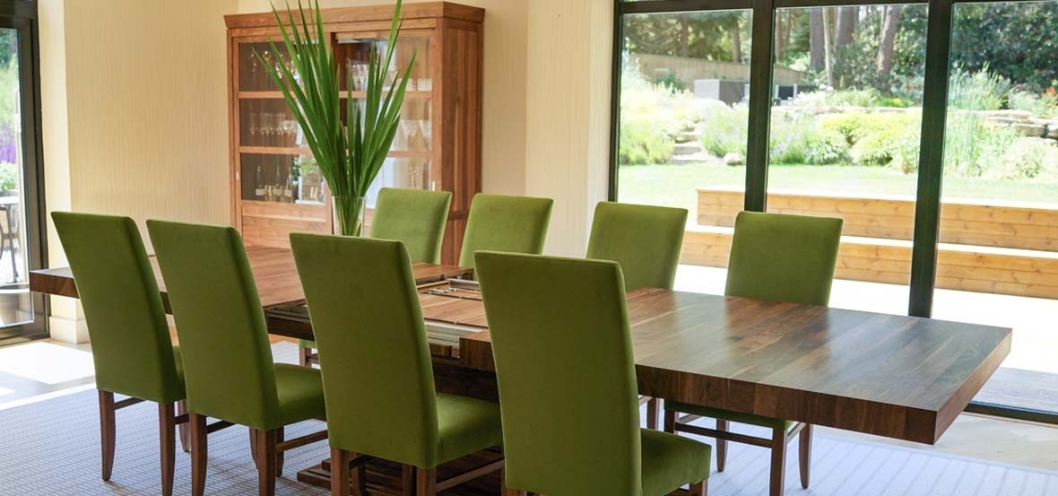 Extending Dining Tables In Solid Oak / Walnut, Contemporary Tables in Oak Dining Suites