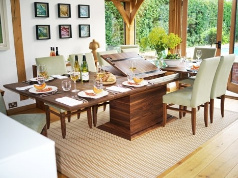 Extending Dining Tables In Solid Oak / Walnut, Contemporary Tables throughout Extending Rectangular Dining Tables