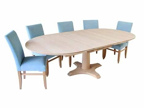 Extending Dining Tables In Solid Oak / Walnut, Contemporary Tables With Extended Round Dining Tables (Image 13 of 25)