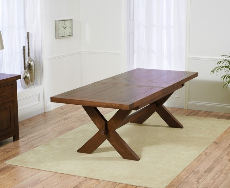 Extending Dining Tables – Solid Wood Tables – Extending Oak Tables Regarding Dark Wood Extending Dining Tables (Image 13 of 25)