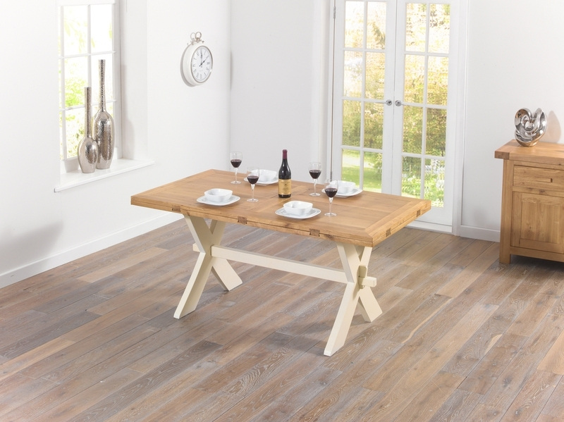 Extending Dining Tables – Solid Wood Tables – Extending Oak Tables With Regard To Cream And Wood Dining Tables (Image 11 of 25)