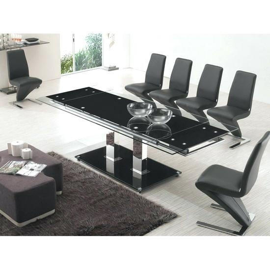 Extending Glass Dining Table And 8 Chairs Aboutyou Space Pertaining inside Extending Glass Dining Tables And 8 Chairs
