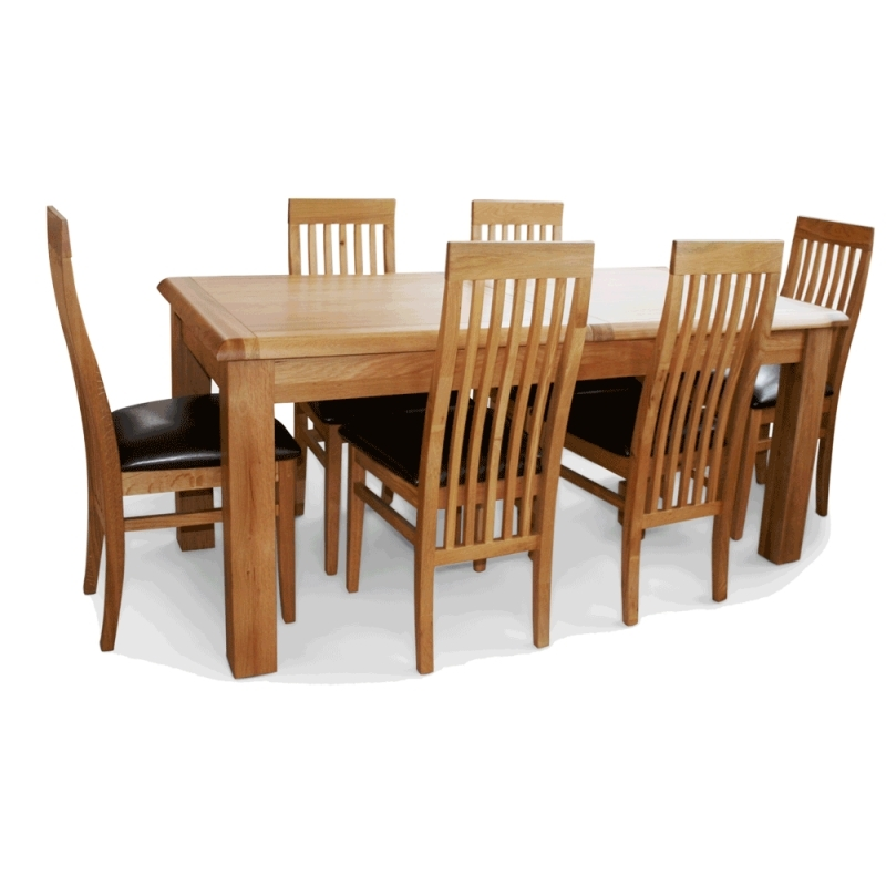 Extending Oak Dining Table¦ Ez Living Sheehys Furniture For Oak Dining Tables With 6 Chairs (Photo 15 of 25)