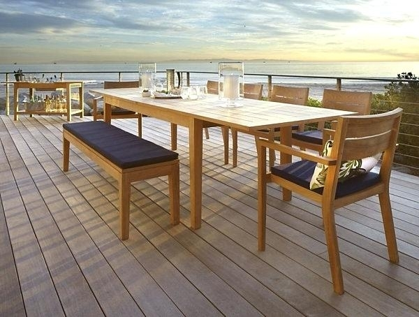 Extending Outdoor Dining Table View In Gallery Benchwright Outdoor Within Extending Outdoor Dining Tables (View 5 of 25)