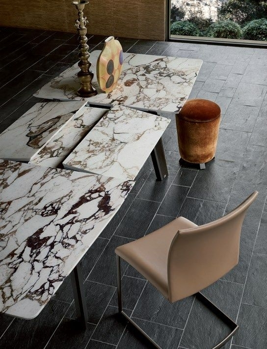 Extending Rectangular Marble Table Fontana | Marble Table – Draenert Regarding Extending Marble Dining Tables (Image 10 of 25)
