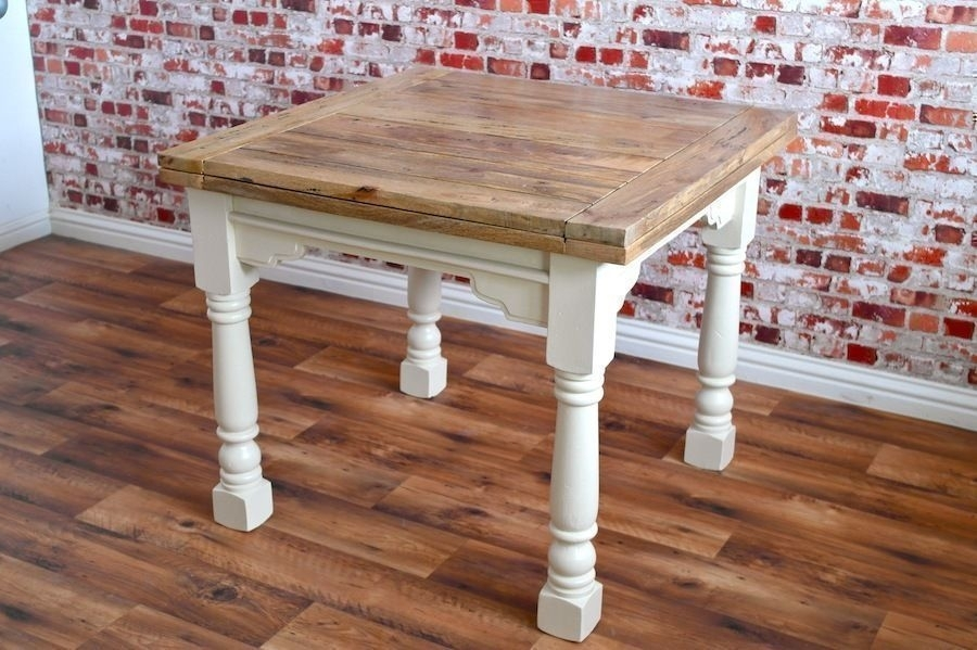 Extending Rustic Dining Table Drop Leaf – Folding Ergonomic Space Intended For 3Ft Dining Tables (View 10 of 25)